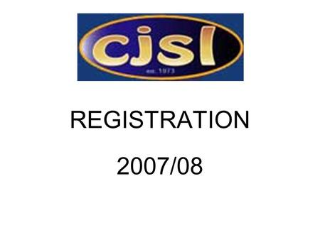 REGISTRATION 2007/08. STEP ONE LOGON:Live= onlinereg.leagueone.com/admin LOGON:TRAINING= training.leagueone.com/admin ID and Passwords are case sensitive.