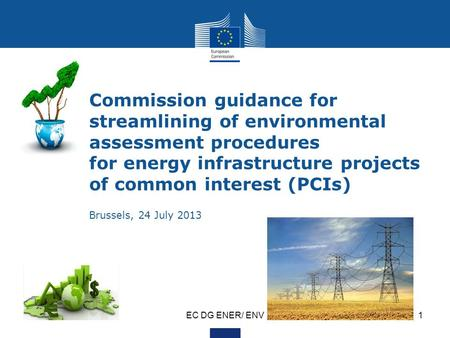 EC DG ENER/ ENV1 Commission guidance for streamlining of environmental assessment procedures for energy infrastructure projects of common interest (PCIs)