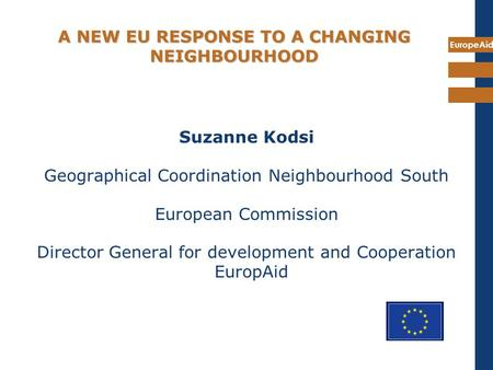 A NEW EU RESPONSE TO A CHANGING NEIGHBOURHOOD