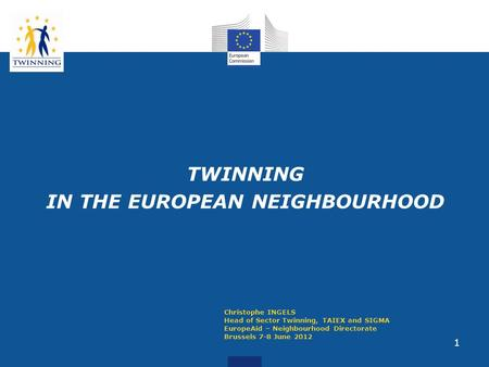 TWINNING IN THE EUROPEAN NEIGHBOURHOOD