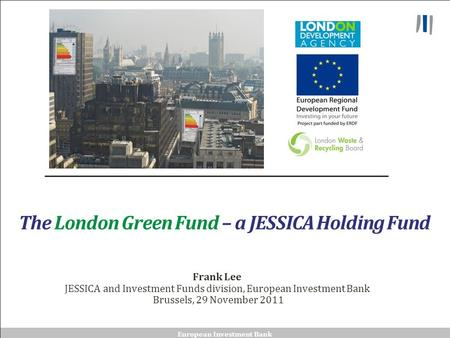 The London Green Fund – a JESSICA Holding Fund