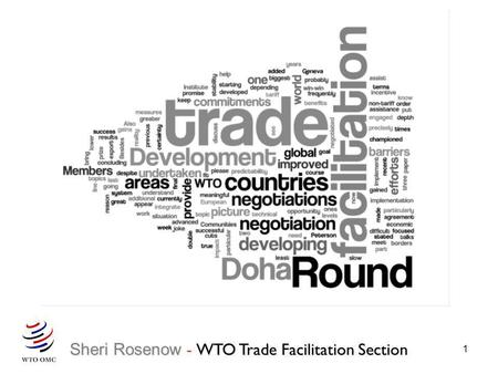 Sheri Rosenow - WTO Trade Facilitation Section