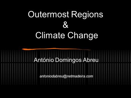 Outermost Regions & Climate Change