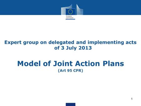 Model of Joint Action Plans