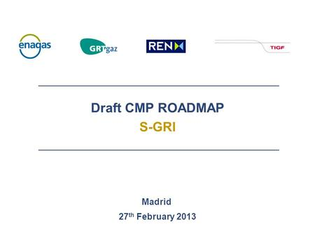 Draft CMP ROADMAP S-GRI Madrid 27 th February 2013.