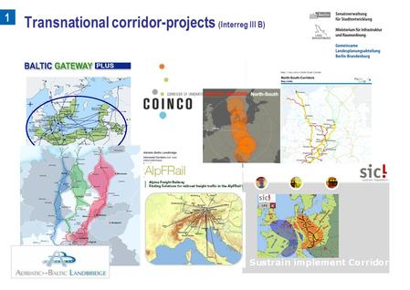 1 Transnational corridor-projects (Interreg III B)