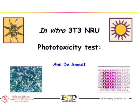 In vitro 3T3 NRU Phototoxicity test: