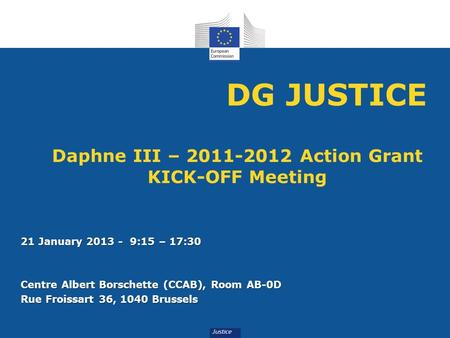 Daphne III – Action Grant KICK-OFF Meeting