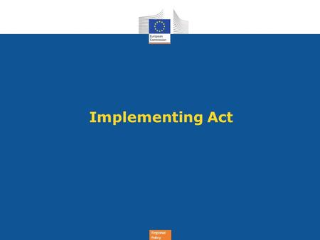 Implementing Act.