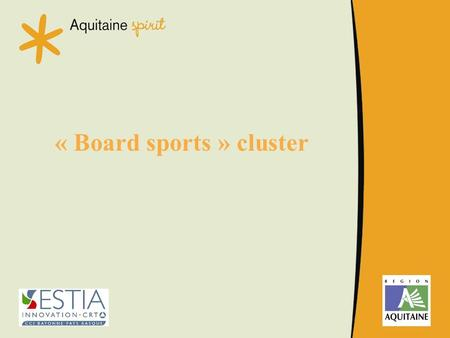 « Board sports » cluster. A world market, thriving from 3 regions.
