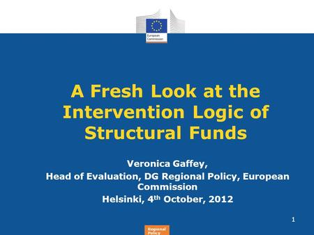 A Fresh Look at the Intervention Logic of Structural Funds