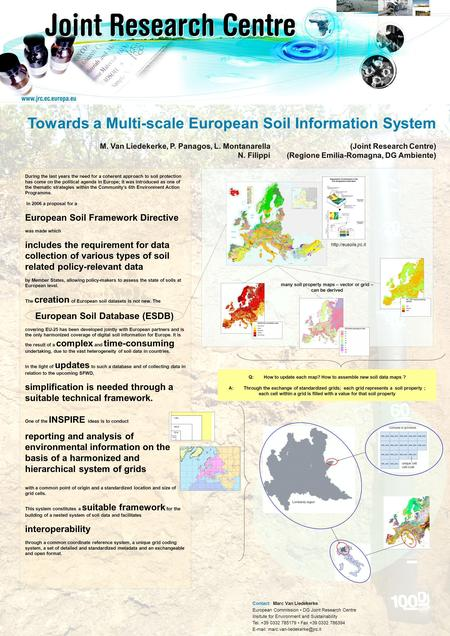 © European Communities, 2004 Towards a Multi-scale European Soil Information System M. Van Liedekerke, P. Panagos, L. Montanarella (Joint Research Centre)