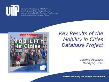 Mobility in Cities Database