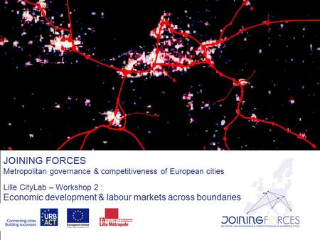 JOINING FORCES Metropolitan governance & competitiveness of European cities Lille CityLab – Workshop 2 : Economic development & labour markets across boundaries.