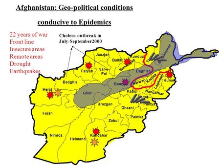 Afghanistan: Geo-political conditions conducive to Epidemics