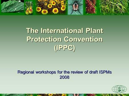 The International Plant Protection Convention (IPPC)