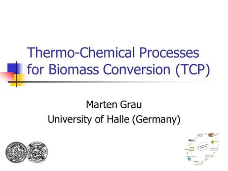 Thermo-Chemical Processes for Biomass Conversion (TCP) Marten Grau University of Halle (Germany)