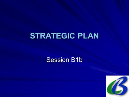 STRATEGIC PLAN Session B1b. 2. The Strategic Plan: Process National working group/committee BaselineAnalysis Media campaign Presentation & promotion Action.