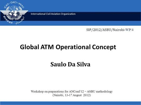 Global ATM Operational Concept
