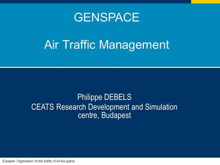 GENSPACE Air Traffic Management