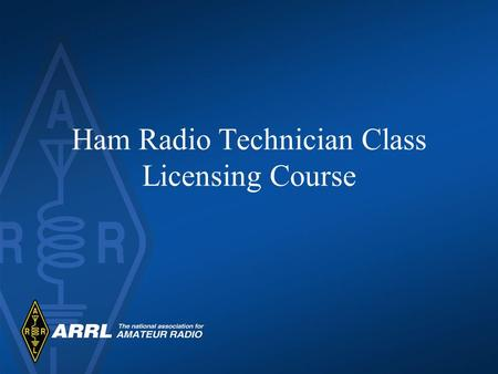 Ham Radio Technician Class Licensing Course. Introductions State your name and a little about yourself. Why are you taking this course? What do you know.