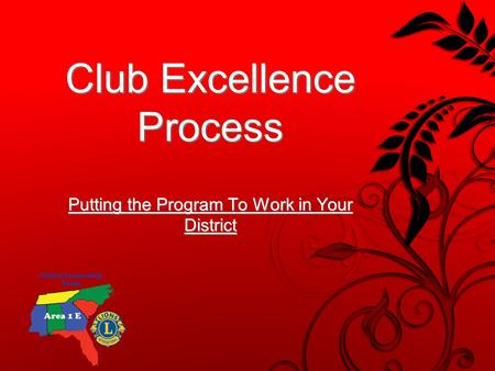 Putting the Program To Work in Your District Club Excellence Process.