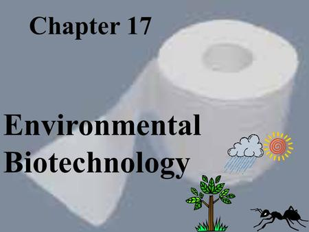 Chapter 17 Environmental Biotechnology People need a good environment to be healthy and happy. The average person in the U.S. creates 4.3 pounds of solid.