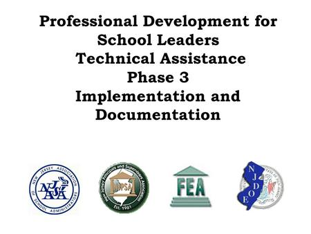 Professional Development for School Leaders Technical Assistance Phase 3 Implementation and Documentation.