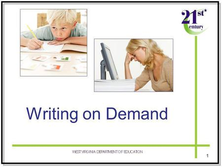 Writing on Demand 1. Essential Question Why should I incorporate On Demand Writing in my classroom instruction? 2.