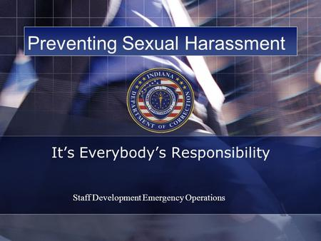 Preventing Sexual Harassment