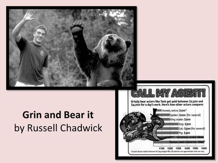 Grin and Bear it by Russell Chadwick 1. 1 What is the meaning of the word assures in paragraph 1 of the selection? o A. Discourages o B. Comforts o C.