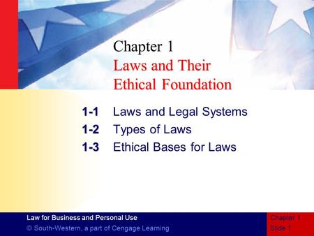 Chapter 1 Laws and Their Ethical Foundation