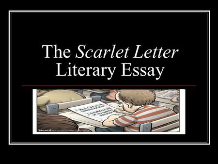 The Scarlet Letter Literary Essay
