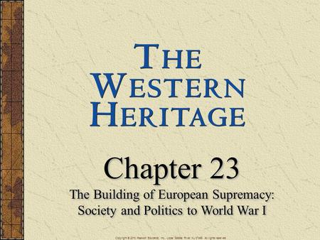 Chapter 23 The Building of European Supremacy:
