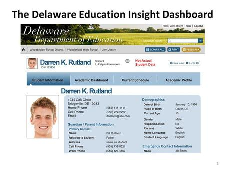 1 The Delaware Education Insight Dashboard. 2 Essential Questions of The Dashboard 1) What is The Dashboard? 2) Who had input in the design of The Dashboard?