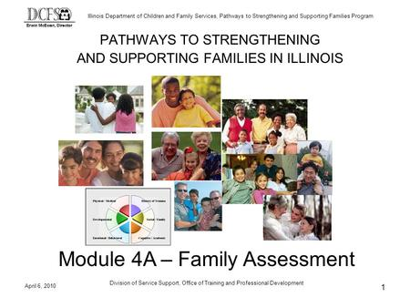 Illinois Department of Children and Family Services, Pathways to Strengthening and Supporting Families Program April 6, 2010 Division of Service Support,