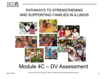 Illinois Department of Children and Family Services, Pathways to Strengthening and Supporting Families Program April 12.2010 Division of Service Support,