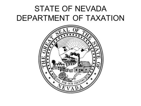 STATE OF NEVADA DEPARTMENT OF TAXATION. Automotive Industry.