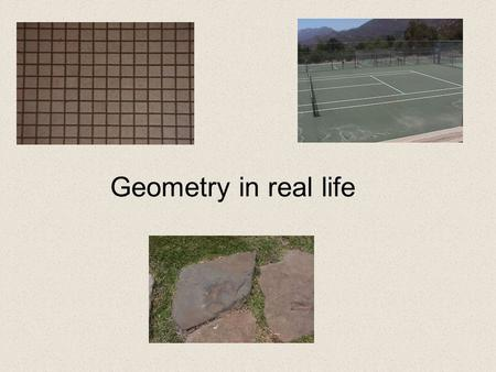 Geometry in real life title.