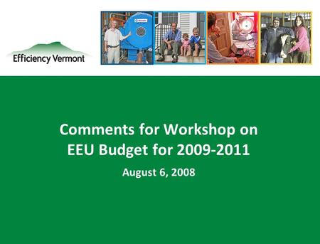 1 Comments for Workshop on EEU Budget for 2009-2011 August 6, 2008.