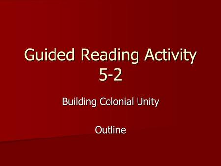 Guided Reading Activity 5-2