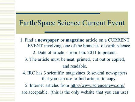 what is a current event article