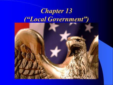 "Chapter 13 (""Local Government"")"