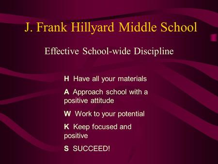 J. Frank Hillyard Middle School