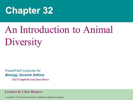 An Introduction to Animal Diversity