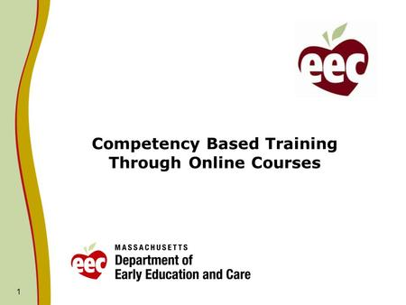 Competency Based Training Through Online Courses