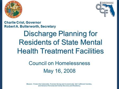 Council on Homelessness May 16, 2008