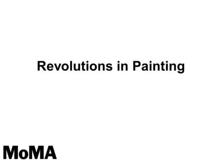 Revolutions in Painting. Why might an artist choose to paint abstractly instead of representationallydepicting figures, shapes, objects or scenes? What.