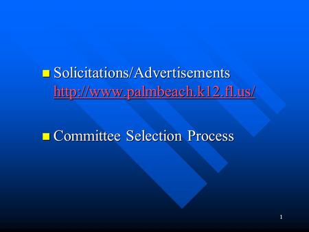 1 Solicitations/Advertisements  Solicitations/Advertisements