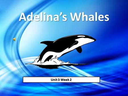 Adelina's Whales Unit 3 Week 2.